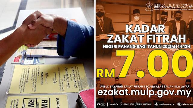 Kadar Zakat Fitrah Di Pahang Untuk Tahun 2021 Kekal RM7. Ini 3 Kaedah Bayaran Ditetapkan