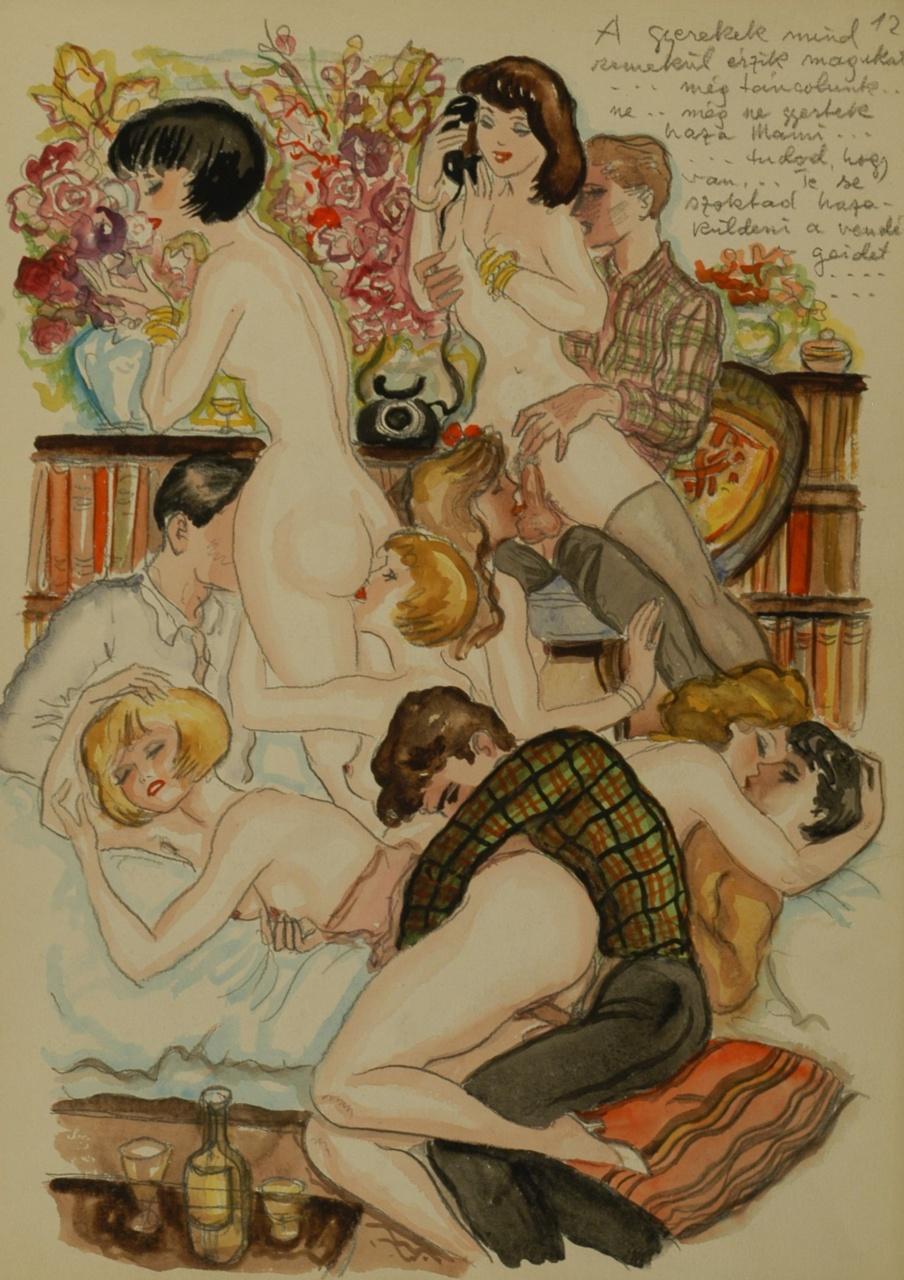 старинная графика эротическая