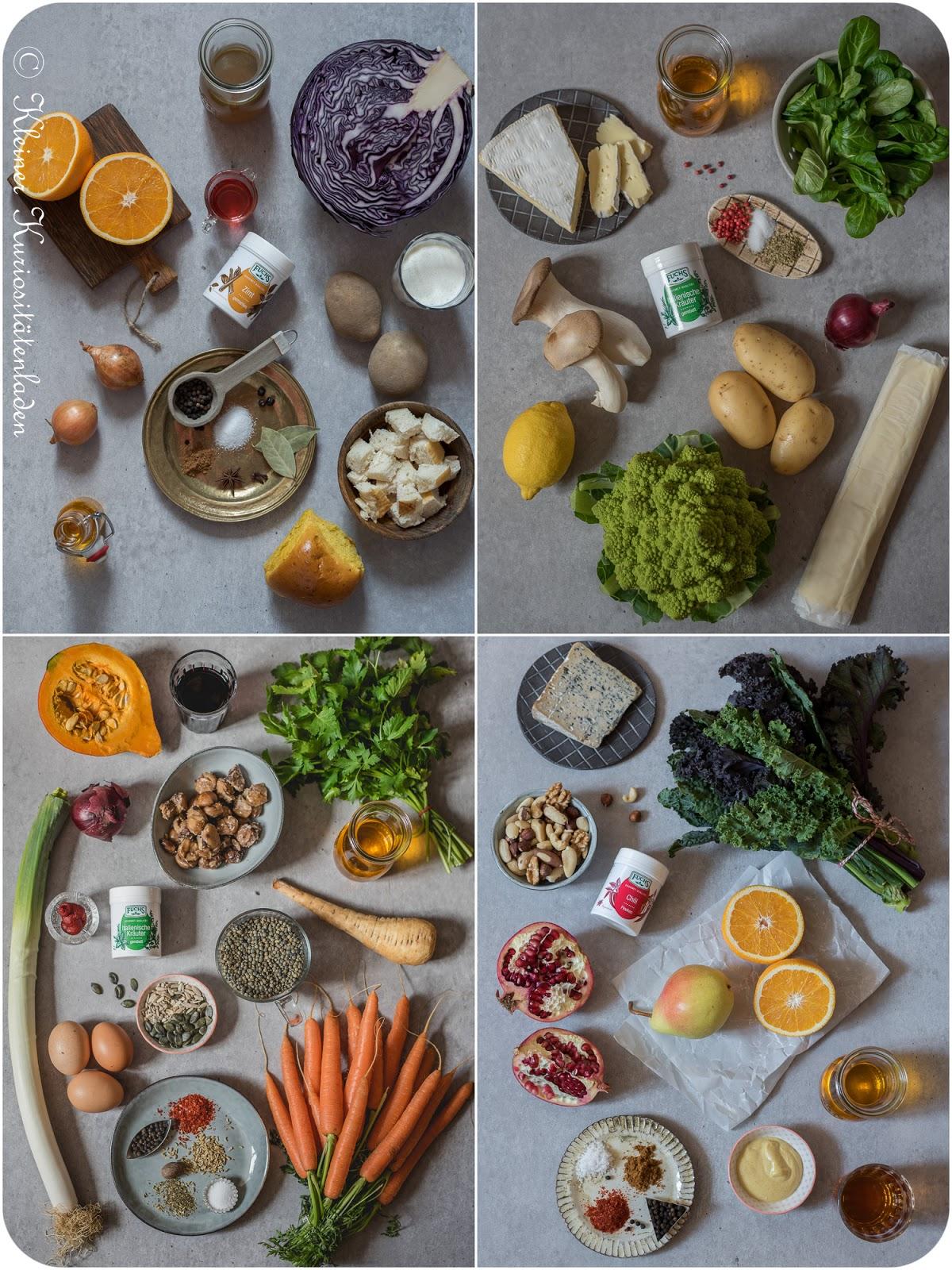 Mein vegetarisches Weihnachtsmenü - Die Zutaten