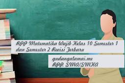 RPP Matematika Wajib Kelas 11 Semester 1 dan Semester 2