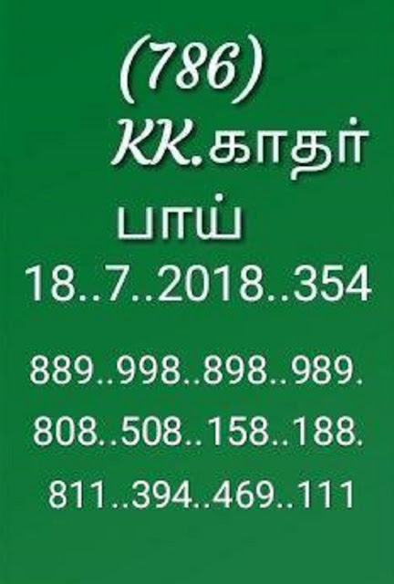 akshaya ak-354 on 18-07-2018 kerala lottery abc all board guessing by KK