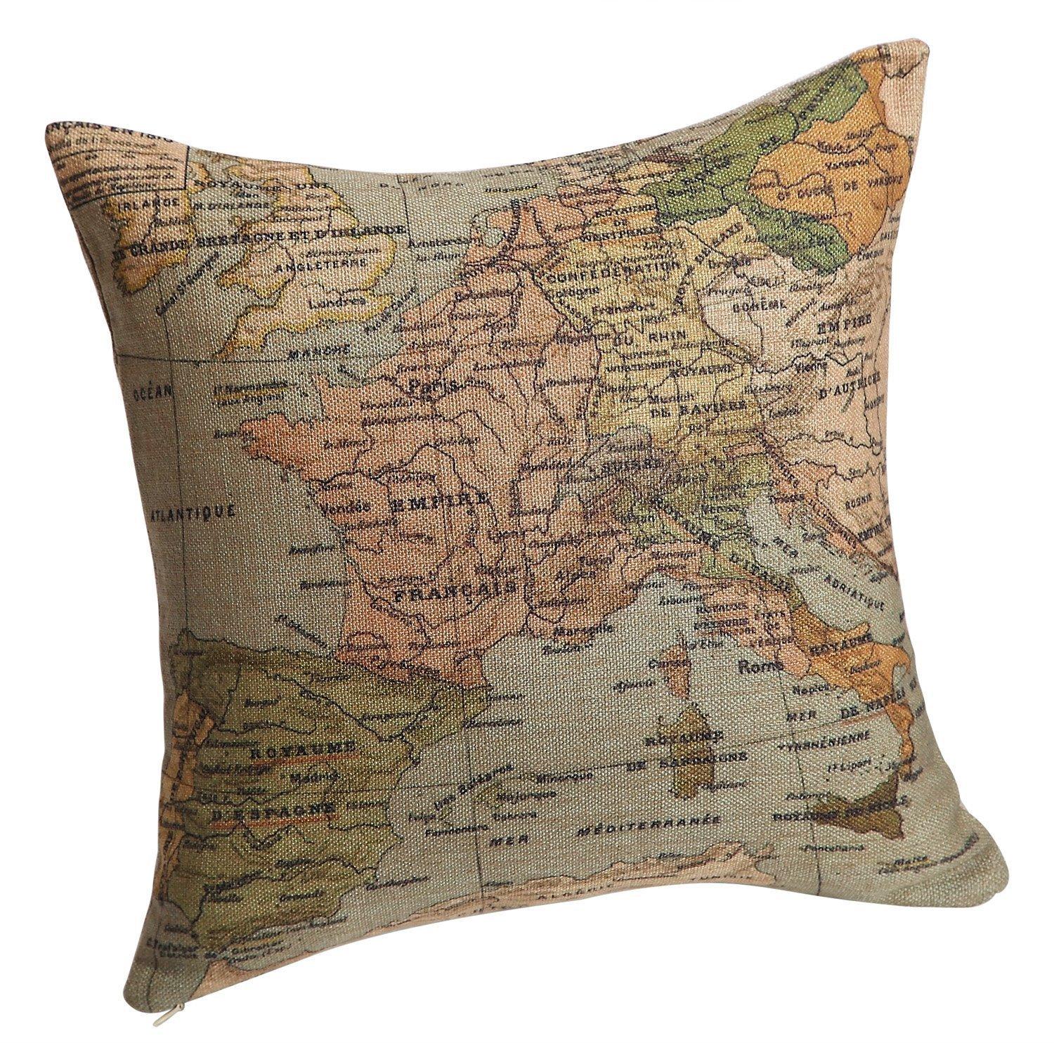 World map themed comforter and bedding sets old world map themed bedding pillow cover gumiabroncs Gallery