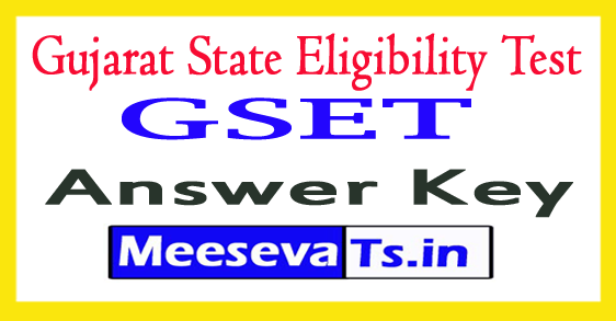 Gujarat State Eligibility Test Answer Key 2018