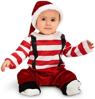 Boys Lil' Elf Infant Costume for Halloween