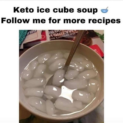 Keto ice cube soup.. Follow me for more recipes