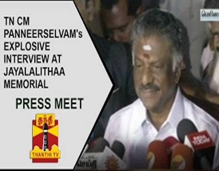 Full Interview: TN CM O Panneerselvam's Explosive interview at Jayalalithaa Memorial