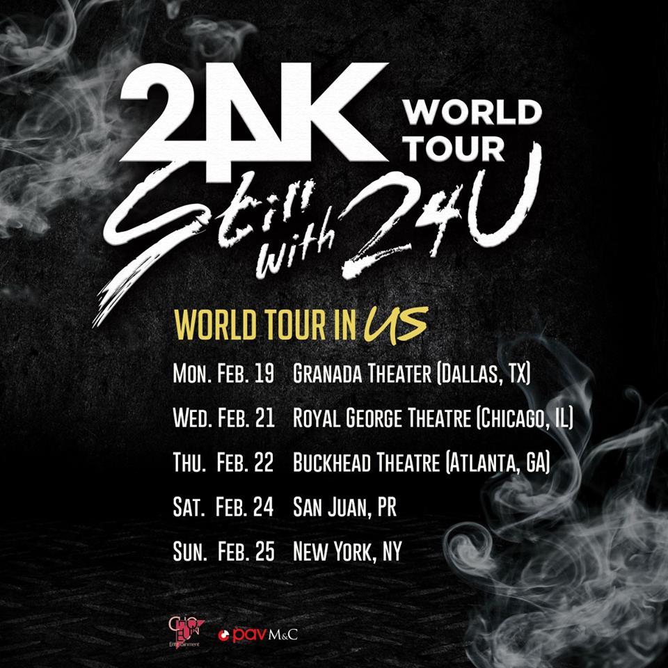 Grupo 24K llega a Puerto Rico con motivo de su gira mundial \