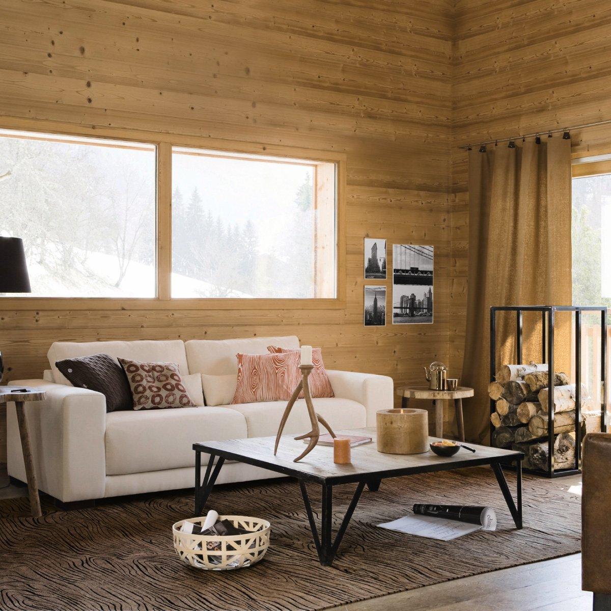 d co chalet scandinave canap blanc et cabane en bois dekobook. Black Bedroom Furniture Sets. Home Design Ideas