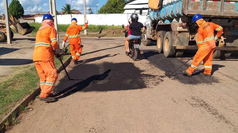OPERAÇÃO TAPA-BURACO E RECUPERAÇÃO DE VIAS AVANÇAM NA CIDADE DE MARABÁ – VEJA