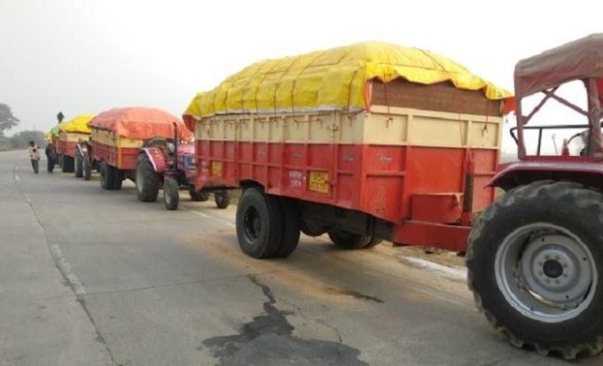 गाजीपुर: धड़ल्ले से हो रहा बालू लदे ओवरलोड वाहनों का संचालन सीमा में प्रवेश