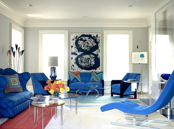 Examples of home interior design are shades of blue