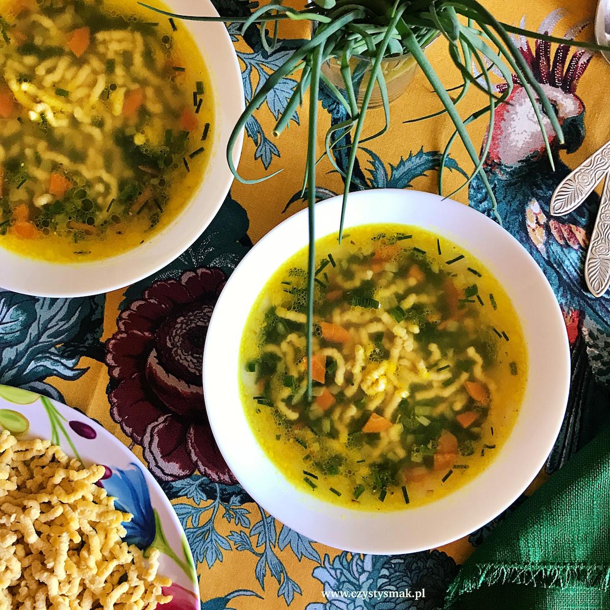 Orzeźwiająca zupa cytrynowa