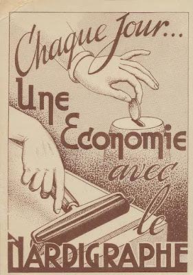 Carte postale publicitaire réalisée au nardigraphe, date inconnue (collection musée)