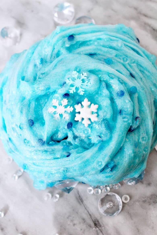 frozen slime recipe winter activity for kids