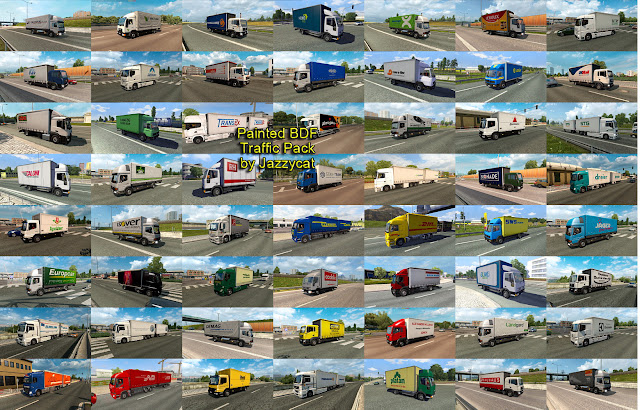 ets 2 painted bdf traffic pack v4.7 screenshots 2