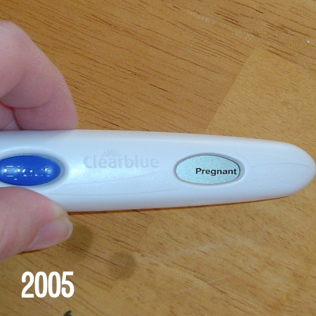 A positive pregnancy test