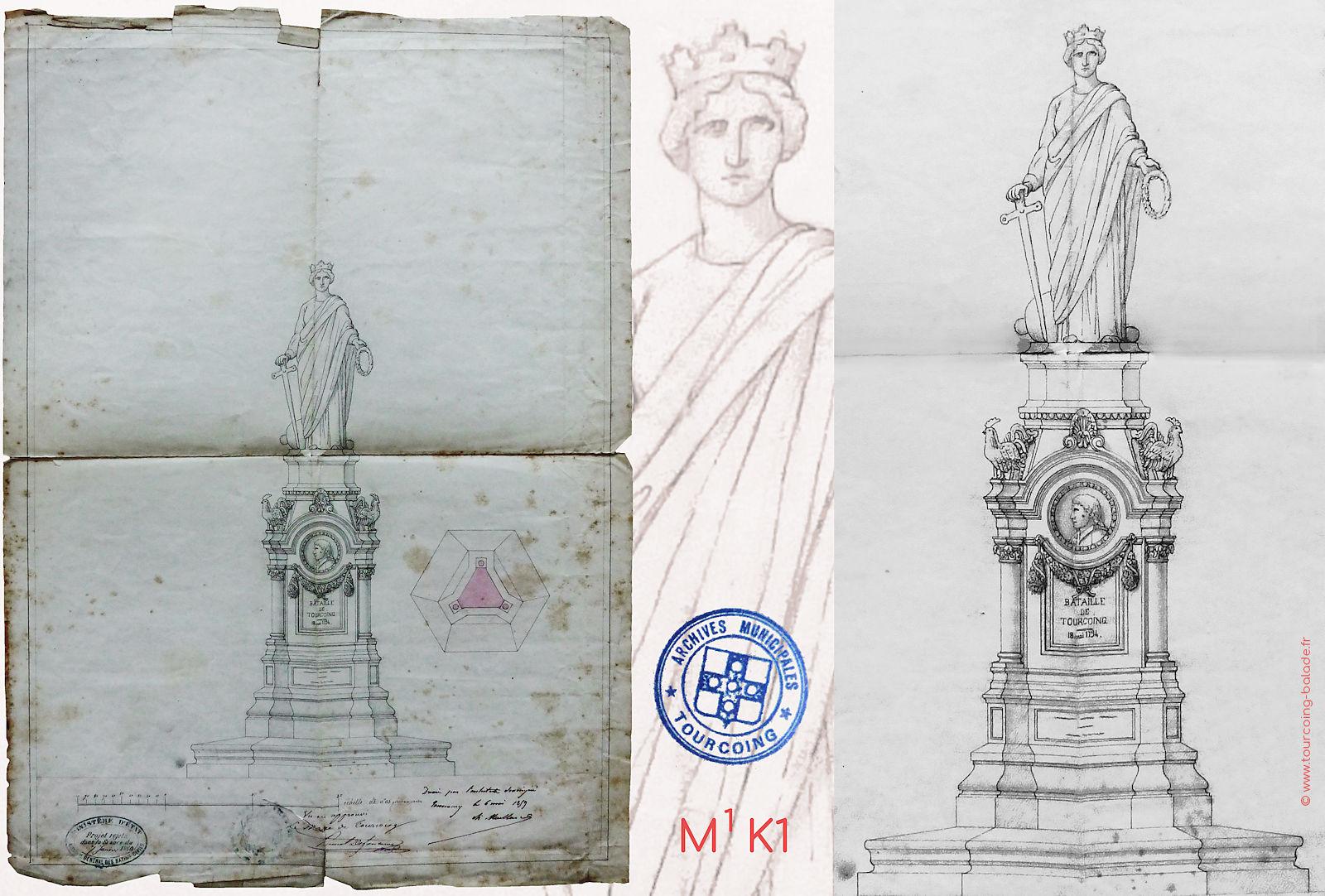 Monument de la Bataille de Tourcoing - Projet rejeté.