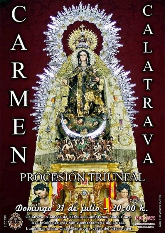 Procesión Triunfal de la imagen de Nuestra Señora del Carmen de Calatrava de Sevilla
