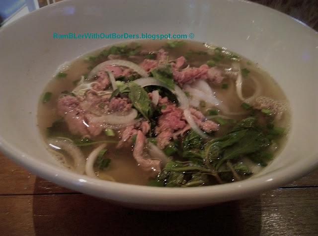 Pho Bo (beef noodle), Lucky Saigon restaurant, Singapore