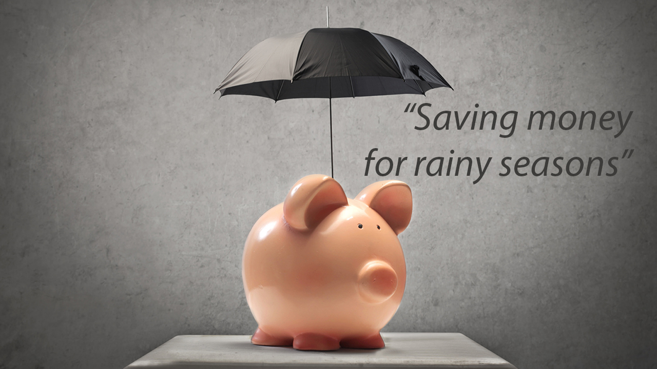Saving for Rainy Seasons gambar lucu