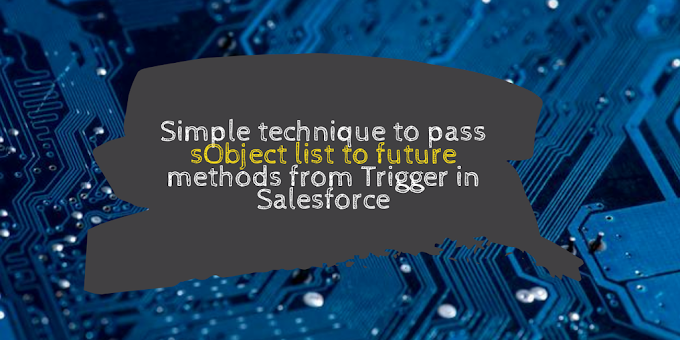 Simple technique to pass sObject list to future methods from Trigger in Salesforce