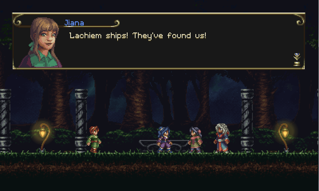 Timespinner - Introduction - Jiana - Lachiem ships are coming