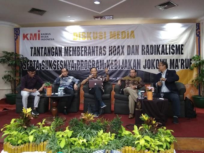 Kalangan Insan Media Bersama KMI Siap Berantas Hoax dan Radikalisme Untuk Indonesia Maju