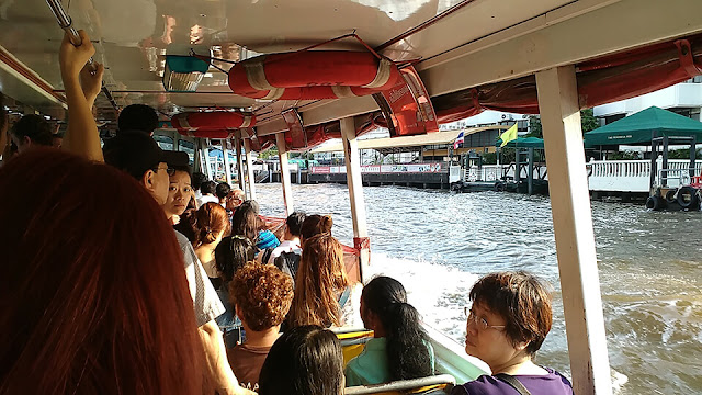 perahu, sungai, bangkok, thailand, wat, wisata
