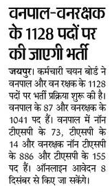 Rajasthan Forest Guard Syllabus 2021 Syllabus: