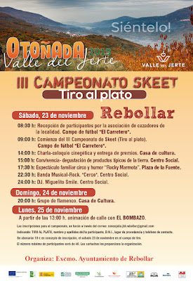 III Campeonato de Skeet (tiro al plato). 23 de noviembre en Rebollar