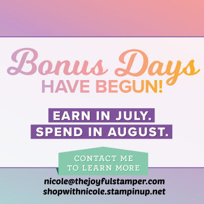 Stampin' Up! Bonus Day coupons are back!