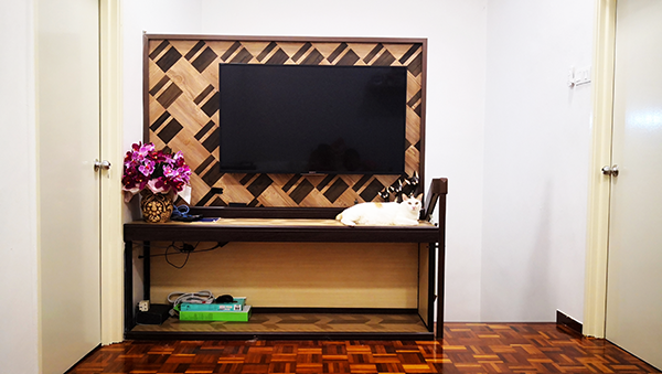 DIY TV Cabinet Above Staircase, Home Decoration With Own Design