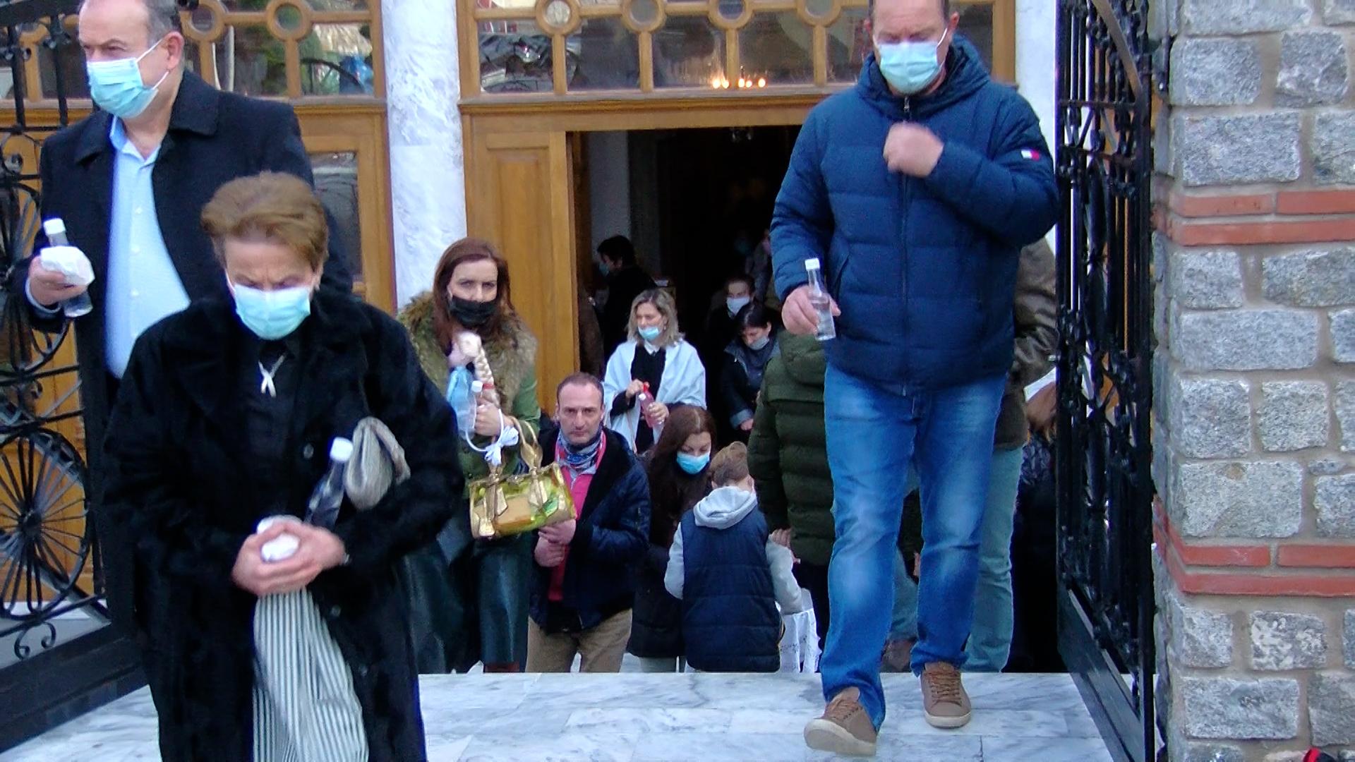 Ξάνθη: Θεοφάνεια με ρίψη του Σταυρού μέσα στη Μητρόπολη