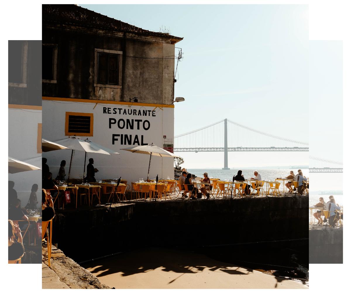 Lisboa. Restaurante Ponto Final