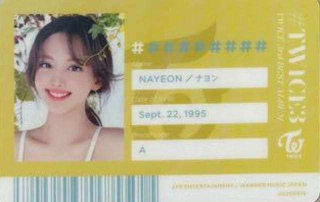 TWICE 3 Nayeon ID