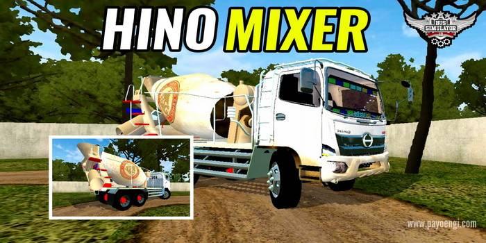 mod bussid truck hino mixer