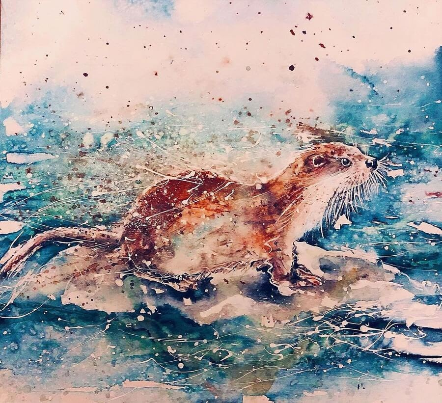 12-Otter-in-search-for-food-Sue-Ayres-www-designstack-co