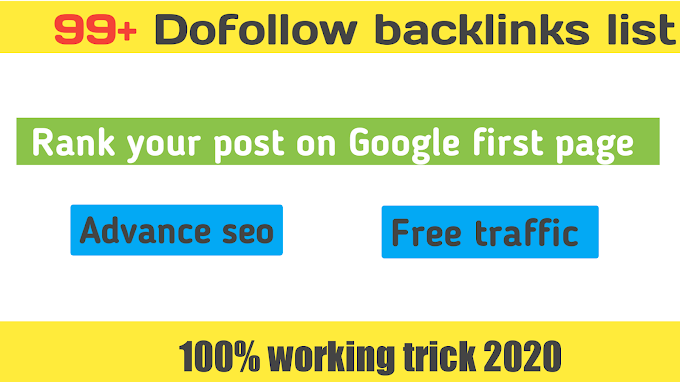 99+ Dofollow Backlinks List 2020