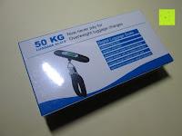 Verpackung: E-PRANCE® Kofferwaage Gepäckwaage Digitale Waage für Reise/Koffer bis 50KG Kapazität