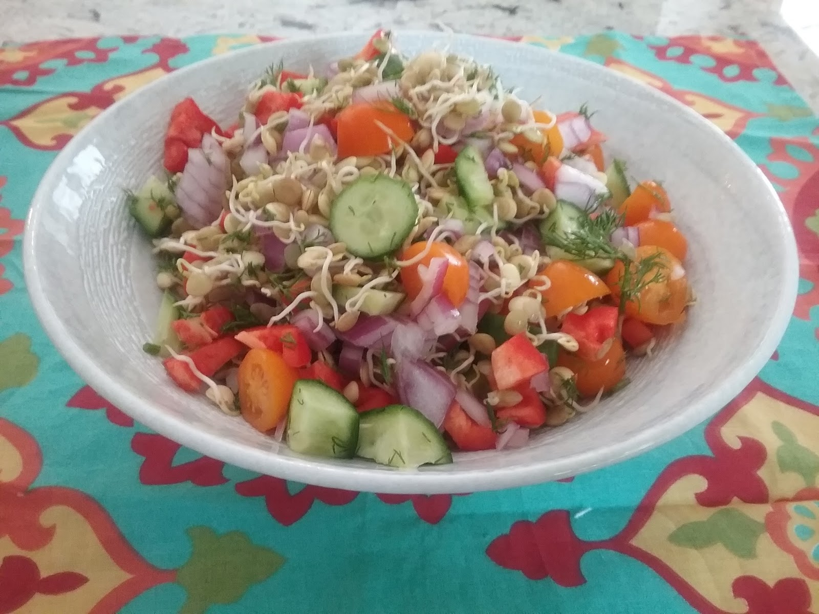 Gluten Free A-Z : Sprouted Lentil Salad