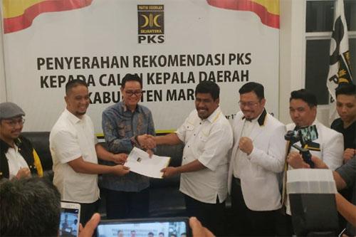 PKS Serahkan Rekomendasi ke Harmil-Ilham untuk Pilkada Maros