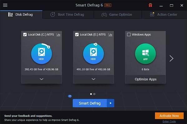 IObit Smart Defrag 6 Pro Crack Serial Key License Code Activation Registration