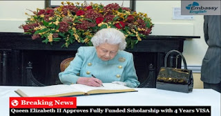 Royal Scholarship in UK – Queen Elizabeth II Approves Fully Funded Scholarship with 4 Years VISA