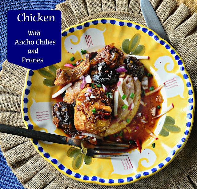 chicken, prunes, chilies
