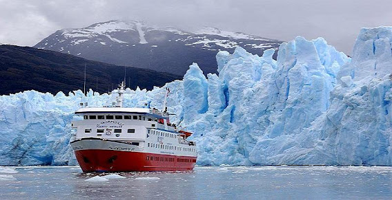 Bruggen or Pio XI Glacier in Chile.
