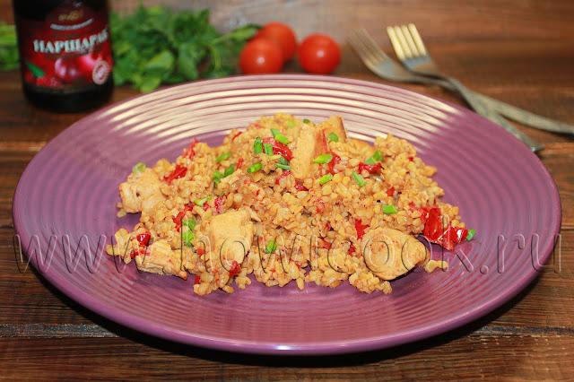 рецепт булгура с курицей и овощами