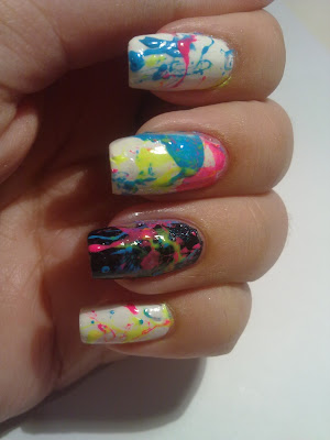 nail art splatter 07