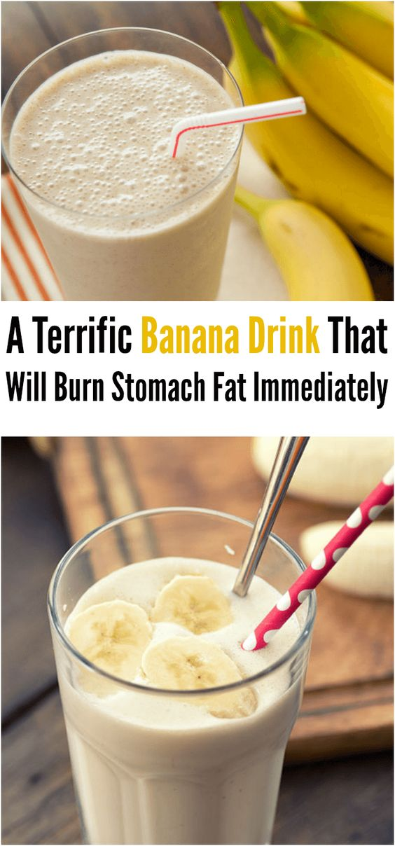 Banana Drink That Will Burn Stomach Fat