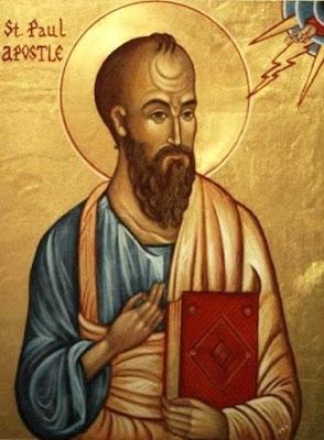 San Pablo Apóstol con su libro en la mano