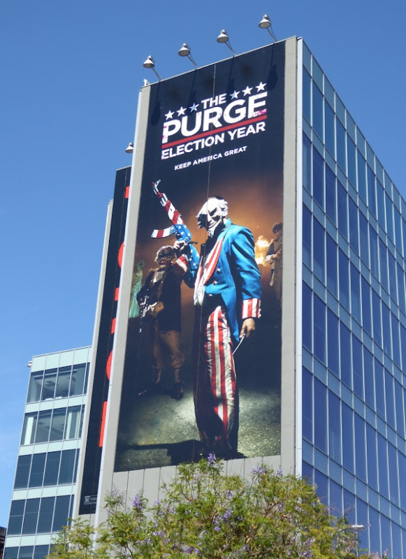 Giant Purge Election Year movie billboard